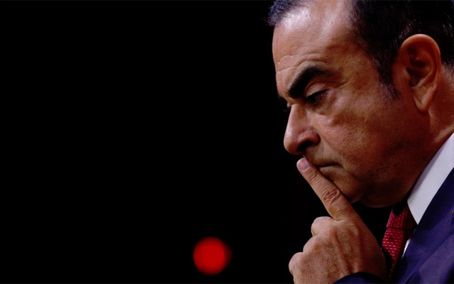 Carlos Ghosn, Chairman and CEO of the Renault-Nissan Alliance, reacts during a news conference in Paris, France, September 15, 2017. REUTERS
