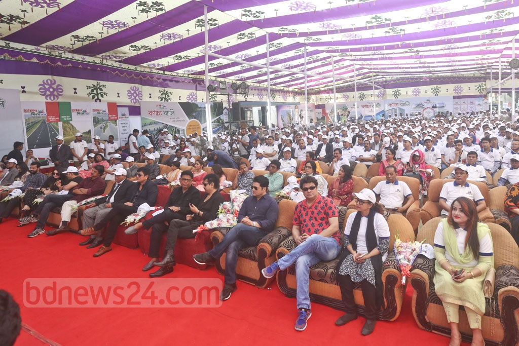 Guests at an event organised by the National Board of Revenue marking the Income Tax Day on Friday.