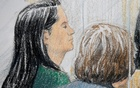 Huawei CFO Meng Wanzhou (L), who was arrested on an extradition warrant, appears at her B.C. Supreme Court bail hearing in a drawing in Vancouver, British Columbia, Canada Dec 7, 2018. REUTERS/Jane Wolsak