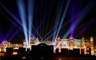 A view of the illuminated City Palace, one of the venues for the pre-wedding celebrations of Isha Ambani, daughter of the Chairman of Reliance Industries Mukesh Ambani, is seen in Udaipur, in the desert state of Rajasthan, India, Dec 9, 2018. REUTERS