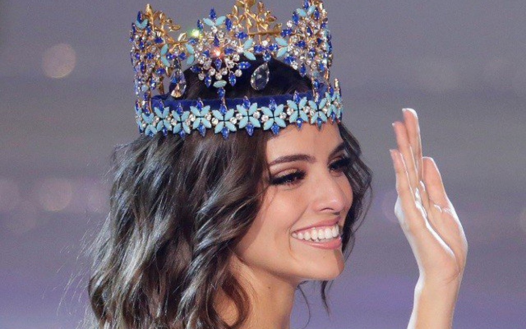 Miss Mexico Vanessa Ponce de Leon, 26, celebrates after winning the Miss World 2018 title in Sanya, Hainan island. REUTERS