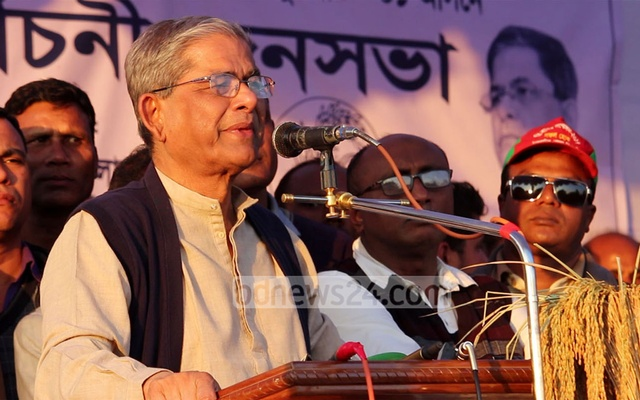 Fakhrul weeps at BNP campaign rally in Thakurgaon