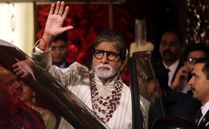 Bollywood actor Amitabh Bachchan leaves after attending the wedding ceremony of Isha Ambani, the daughter of the Chairman of Reliance Industries Mukesh Ambani, in Mumbai, India, December 13, 2018. Reuters