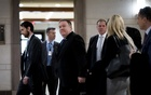 Secretary of State Mike Pompeo leaving a closed briefing with members of the House on Capitol Hill, in Washington, Dec 13, 2018. In the briefing, Pompeo and Defence Secretary Jim Mattis asked the House to continue the military advising, logistics support and intelligence that have for years been shared with Saudi Arabia. The New York Times