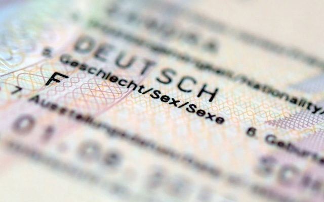 A German passport designating the holder's gender as female. The Germany Parliament has passed a law introducing a third category: diverse. The New York Times