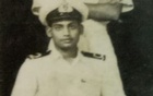 A photo of Syed Azizur Rahman. The family believes it was taken during his time in the Navy.