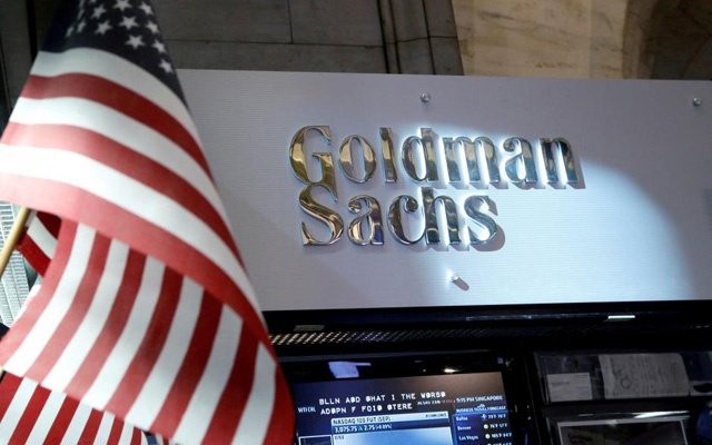 FILE PHOTO: A view of the Goldman Sachs stall on the floor of the New York Stock Exchange in New York, US on Jul 16, 2013. REUTERS/Brendan McDermid/File Photo