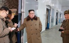 North Korean leader Kim Jong Un visits fisheries in the Donghae area, North Korea, in this picture released by the Korean Central News Agency on Dec 1, 2018. KCNA via REUTERS