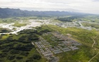 FILE PHOTO: An aerial view of Hla Phoe Khaung transit camp for Rohingya who decide to return back from Bangladesh, is seen in Maungdaw, Rakhine state, Myanmar, September 20, 2018. Ye Aung Thu/Pool via REUTERS