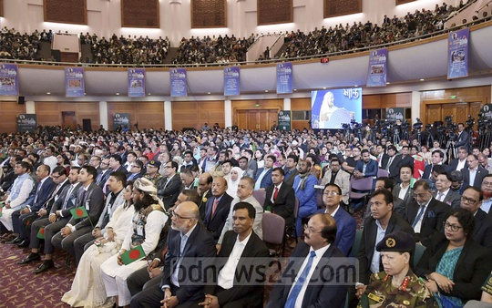 Top businessmen from across Bangladesh attend a convention organised by the FBCCI at the Bangabandhu International Conference Centre on Wednesday. Photo: ABM Aktaruzzaman / PID