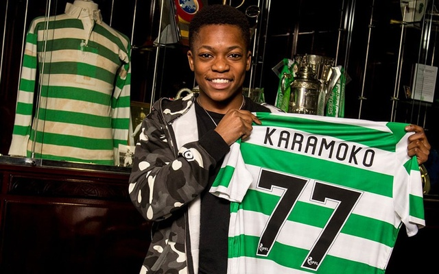 Karamoko Dembele joined Celtic aged 10. Photo: @celticfc/Twitter