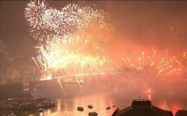 Australia celebrates 2019 with fireworks display.