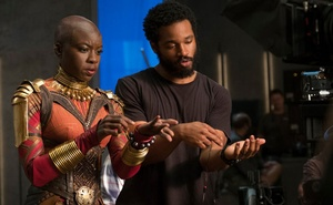 Ryan Coogler directing one of his stars, Danai Gurira. The New York Times