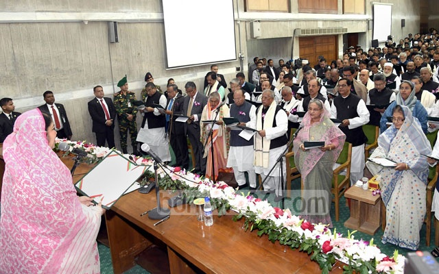 Bangladesh MPs taking oath after national election