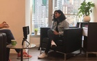 Fariha Salma Deiya Bakar in an interview with the Zubin Foundation, an organisation aiming to improve the lives of ethnic minorities in Hong Kong. YouTube/Salma Enriquez