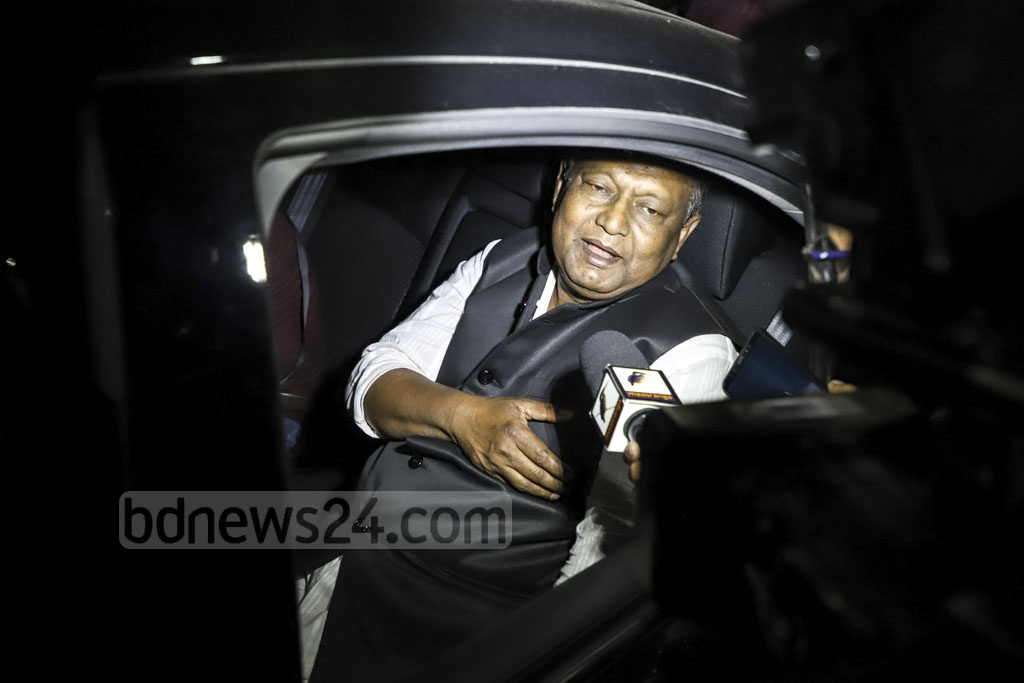 Businessman Tipu Munshi, a new face in the cabinet, leaving the Bangabhaban after taking oath as commerce minster on Monday. Photo: Abdullah Al Momin