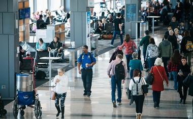 Representational Image: Travellers pass through the Austin–Bergstrom International Airport on Dec 22, 2018. (Alyssa Schukar/The New York Times)