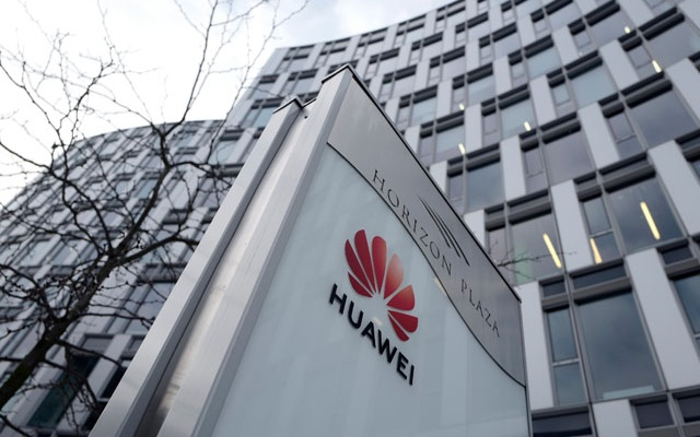 Logo of Huawei is seen in front of the local offices of Huawei in Warsaw, Poland January 11, 2019. Reuters