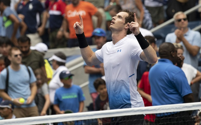 Andy Murray celebrates winning his first round match at the US Open in New York, Aug 27, 2018. Still struggling with a hip injury that has limited him since 2016, Murray announced before the start of the 2019 Australian Open that he will retire after this year's Wimbledon tournament — if not sooner. The New York Times