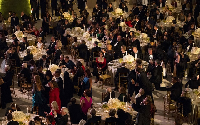 A gala dinner at Union Station in Washington, where Donald Trump spoke on the eve of his presidential inauguration, Jan 19, 2017. The New York Times