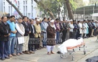 The Namaz-e-Janaza of Abu Bakar Chowdhury, acting editor of Daily Manabkantho, was held at the National Press Club in Dhaka on Tuesday.