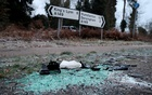 Debris is seen at the scene where Britain's Prince Philip was involved in a traffic accident, near the Sandringham estate in eastern England, Britain, January 18, 2019. REUTERS/Chris Radburn