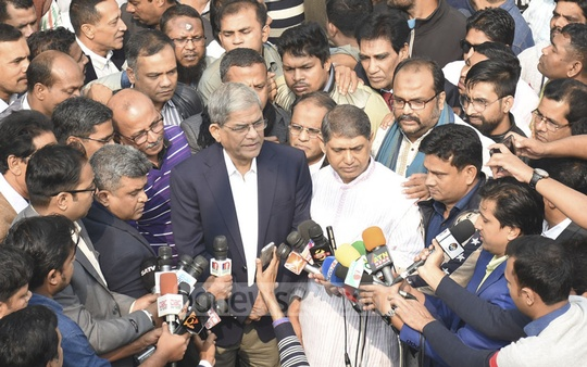 BNP Secretary General Mirza Fakhrul Islam Alamgir and other party leaders visit the grave of party founder Ziaur Rahman to commemorate his birthday on Saturday.