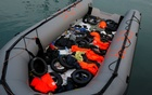 A dinghy with floats and life-vests of migrants, intercepted aboard of it off the coast in the Mediterranean Sea, is seen after they arrived on a rescue boat at dawn at the port of Malaga, southern Spain, Jan 15, 2019. File photo: REUTERS