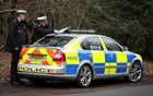 Police officers are seen at the scene where Britain's Prince Philip was involved in a traffic accident, near the Sandringham estate in eastern England, Britain, Jan 18, 2019. REUTERS