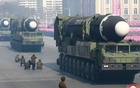 Intercontinental ballistic missiles are seen at a grand military parade celebrating the 70th founding anniversary of the Korean People's Army at the Kim Il Sung Square in Pyongyang. Korean Central News Agency (KCNA) via REUTERS