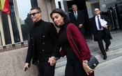 Portugal's soccer player Cristiano Ronaldo leaves with his girlfriend Georgina Rodriguez after appearing in court on a trial for tax fraud in Madrid, Spain, January 22, 2019. REUTERS