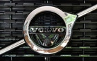 FILE PHOTO: A Volvo logo is seen during an interview with CEO Hakan Samuelsson at the Volvo Cars Showroom in Stockholm, Sweden Jul 5, 2017. TT News Agency/Jonas Ekstromer/via REUTERS