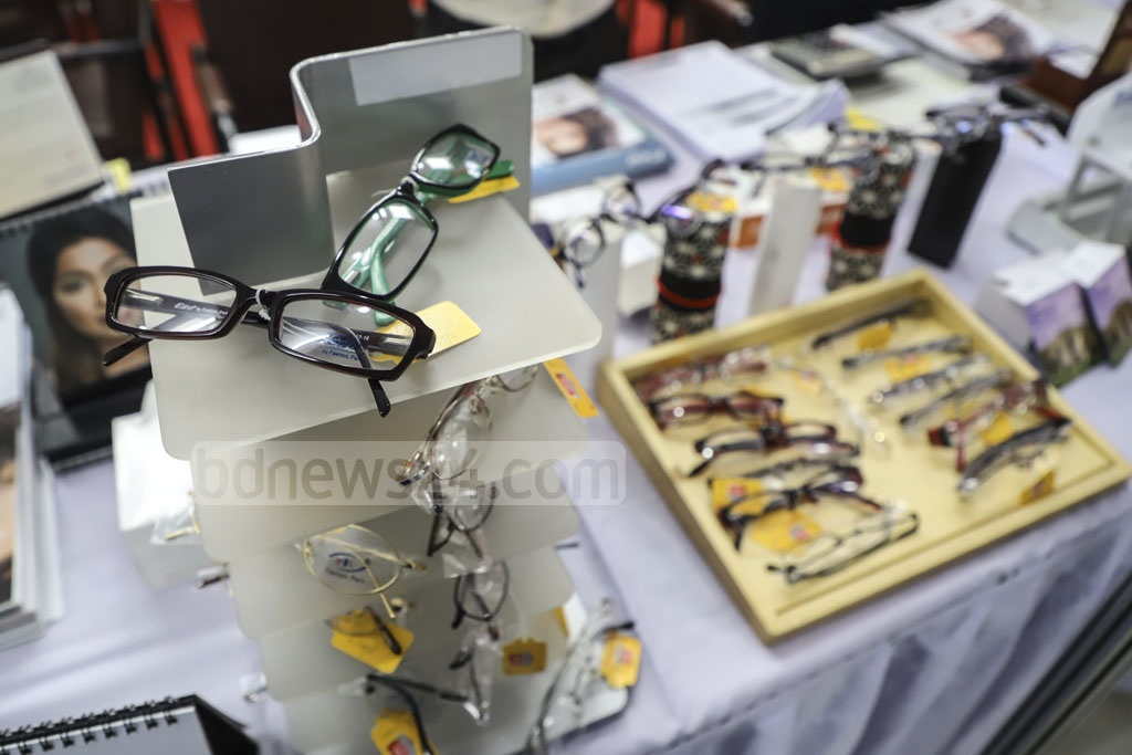 The three-day Ninth International Optical Fair 2019 started at the IDEB Bhaban in Dhaka's Kakrail on Thursday. Photo: Abdullah Al Momin