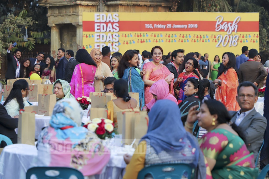 The alumni of Dhaka University's English Department gathered at the Teacher-Student Centre on Friday for their annual bash.