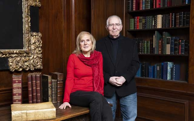 In a town of sparkle and flash, rare books are an anomaly, but for David and Natalie Bauman, the owners of a successful rare-book store in Manhattan since 1988, it has been a lucrative trade. (Isaac Brekken/The New York Times)