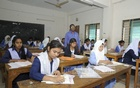 The SSC examinations are held at the Sheikh Fazilatunnesa Mujib Government Secondary School examination centre in Dhaka's Ashkona on Saturday.