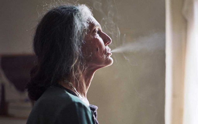"""Benedetta Barzini, a former Italian supermodel, in a scene from """"The Disappearance of My Mother,"""" a documentary directed by her son Beniamino Barrese."""