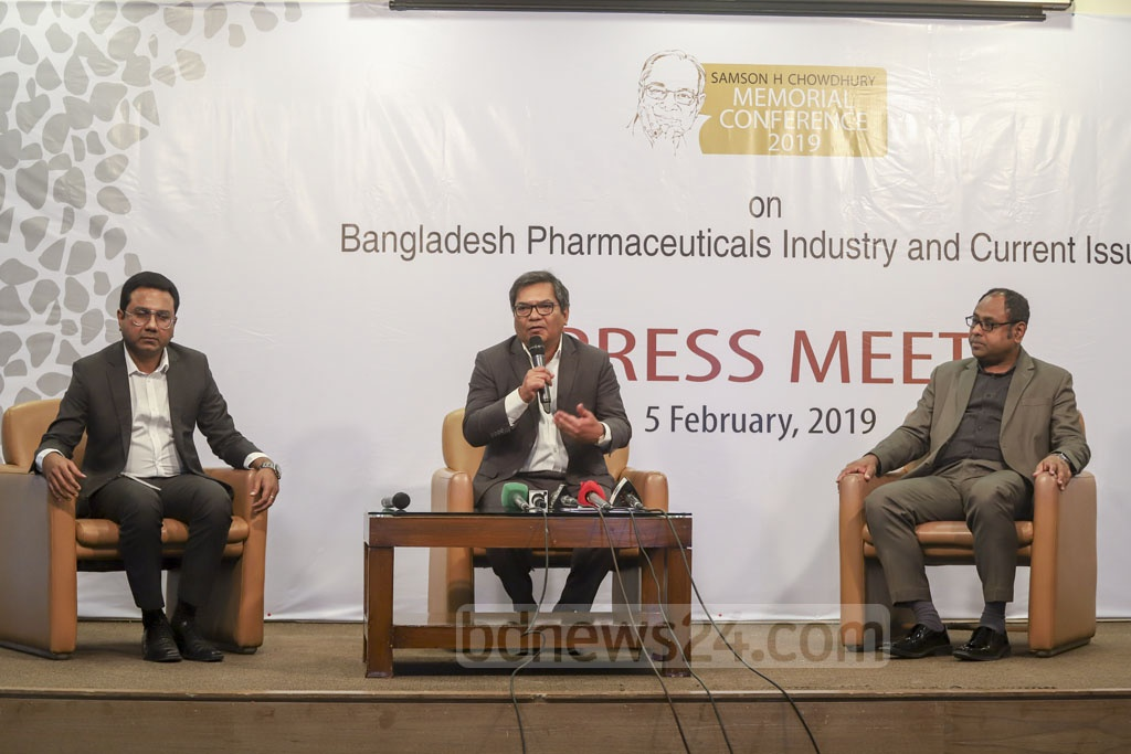 Square Pharmaceuticals Marketing Director Ahmed Kamrul Alam speaks at a media briefing at Square Hospital on Tuesday, ahead of the day-long event 'Fourth Samson H Chowdhury Memorial Conference' is held at Hotel Sonargaon on Saturday. Photo: Abdullah Al Momin