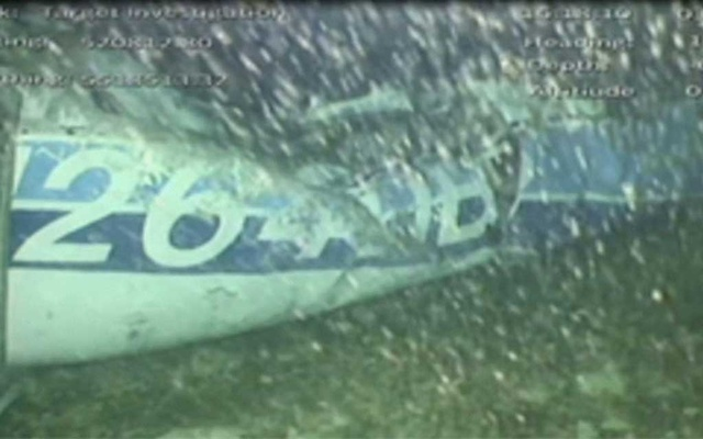The wreckage of the missing aircraft carrying soccer player Emiliano Sala is seen on the seabed near Guernsey, in this still image taken from video taken February 3, 2019. AAIB/ via REUTERS TV