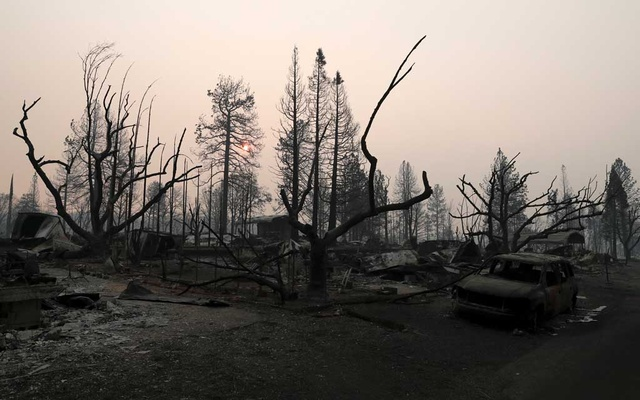 FILE PHOTO: A neighbourhood destroyed by the Camp Fire is seen in Paradise, California, US, Nov 17, 2018. Reuters