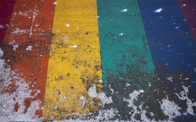 A rainbow crosswalk in the Gay Village area of Toronto, where five victims disappeared, Feb 8, 2019. The New York Times