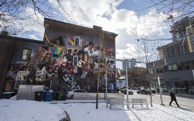 A mural in the Gay Village area of Toronto, where five victims disappeared, Feb 8, 2019. Bruce McArthur, who pleaded guilty to eight murders that brought fear to Toronto's gay community, was sentenced on Feb. 8, 2019, to life with no chance of parole for 25 years. The New York Times