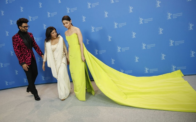 Director, screenwriter and producer Zoya Akhtar and actors Alia Bhatt and Ranveer Singh pose during a photocall to promote the movie Gully Boy at the 69th Berlinale International Film Festival in Berlin, Germany, Feb 9, 2019. REUTERS