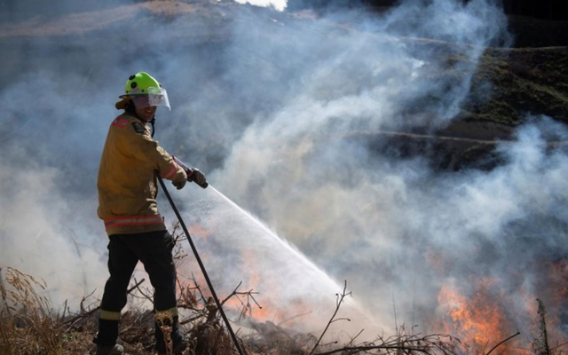 New Zealand Defence Force firefighters combat the Richmond fire near Nelson, South Island, New Zealand, February 8, 2019. Chad Sharman/New Zealand Defence Force/Handout via REUTERS