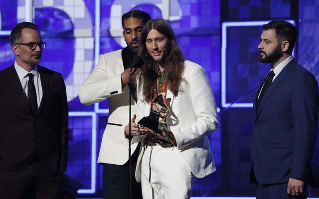 Ludwig Goransson accepts after Childish Gambino won Record Of The Year for