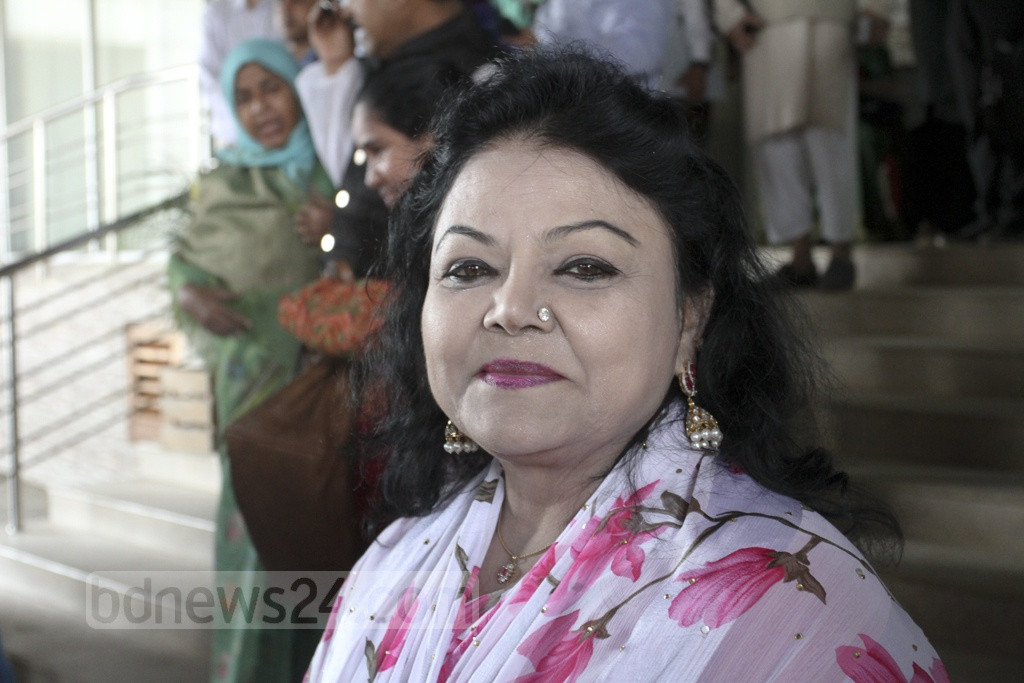 Salma Islam, who was defeated in the general election last year, is on her way to become a reserved seat MP. She poses for a photograph during the Election Commission's programme for verifying nomination documents on Tuesday. Photo: Asif Mahmud Ove