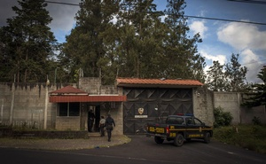 Officials arrive on Oct 30, 2018, at the entrance to the youth shelter in San Jose Pinula, near Guatemala City, where 41 girls died in a February 2017 fire. Nearly two years later, the trials against public officials accused of failing to prevent the deaths have all begun. The New York Times)