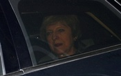Britain's Prime Minister Theresa May is pictured outside the Houses of Parliament, in London. REUTERS
