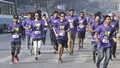 Himu Paribahan, an organisation of volunteers, organised a road running event at the Central Shaheed Minar area in Dhaka on Friday to mark World Cancer Day. Photo: Abdullah Al Momin