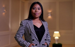 Mexican actor Yalitza Aparicio, who is nominated for an Oscar for Best Actress for